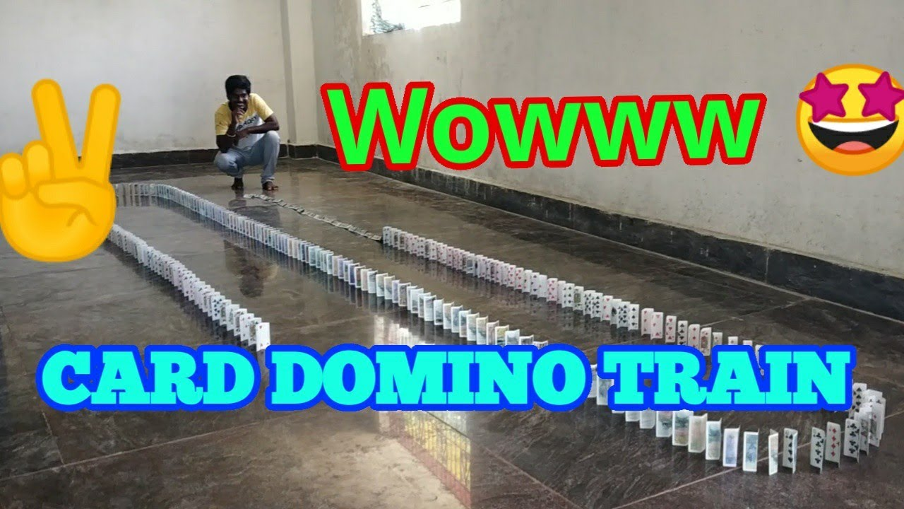 Cards domino Train | wowww awesome ❤️| creativity Experimental