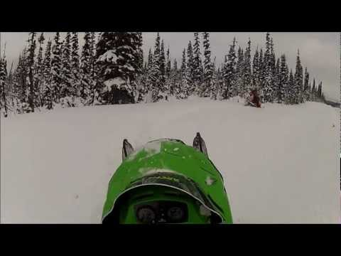 snowmobiling north of ft st james with my gopro hero2
