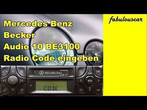 Radio code entry eingabe enter eingeben mercedes benz for Mercedes benz audio 10 code