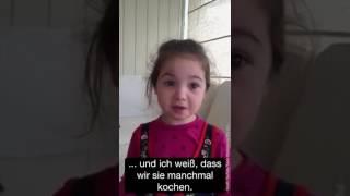 Mädchen will keine Tiere essen und äussert sich sehr klar dazu