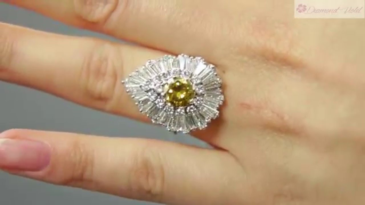 Gia 4 20ct Estate Vintage Fancy Cognac Diamond Ballerina Cluster 18k White  Gold Ring