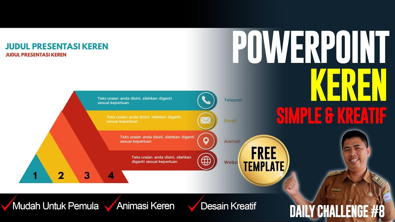 Contoh Power Point Keren Template Powerpoint Free Download Daily Challenge 8 Youtube
