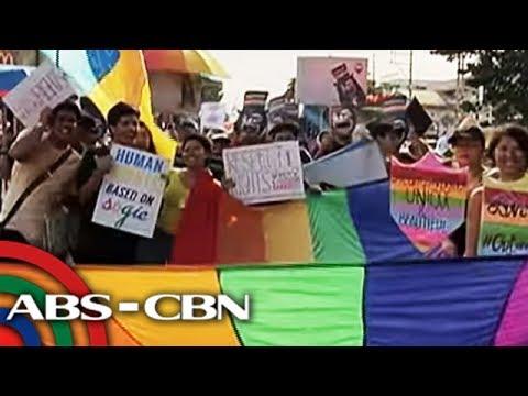 TV Patrol: Daan-daang miyembro ng LGBT community, nakiisa sa 'Pride March'