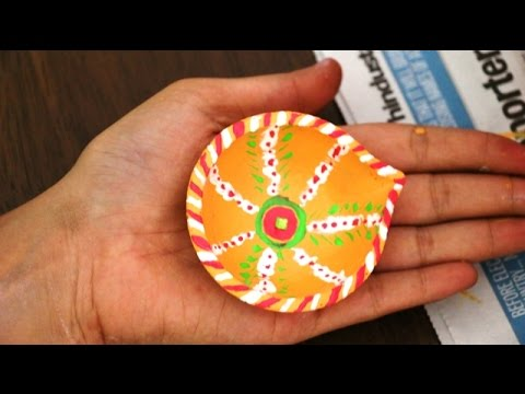 How to make diya decoration ideas for dipawali diy home for Diya decoration youtube