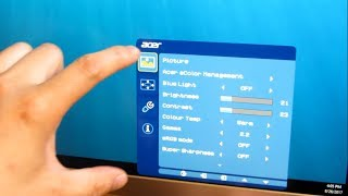 "Acer H277HU 27"" Monitor | Complete Menu Options OSD"