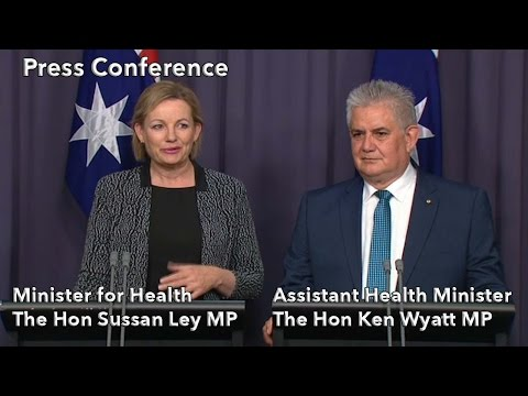 Press Conference with Minister for Health Sussan Ley and Assistant Health Minister Ken Wyatt