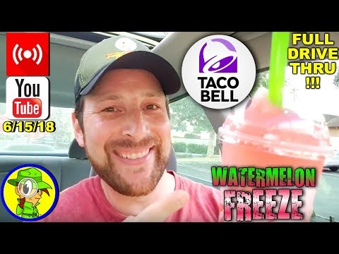 Taco Bell® | Watermelon Freeze Review! (LIVE REPLAY) 🌮🔔🍉🥤