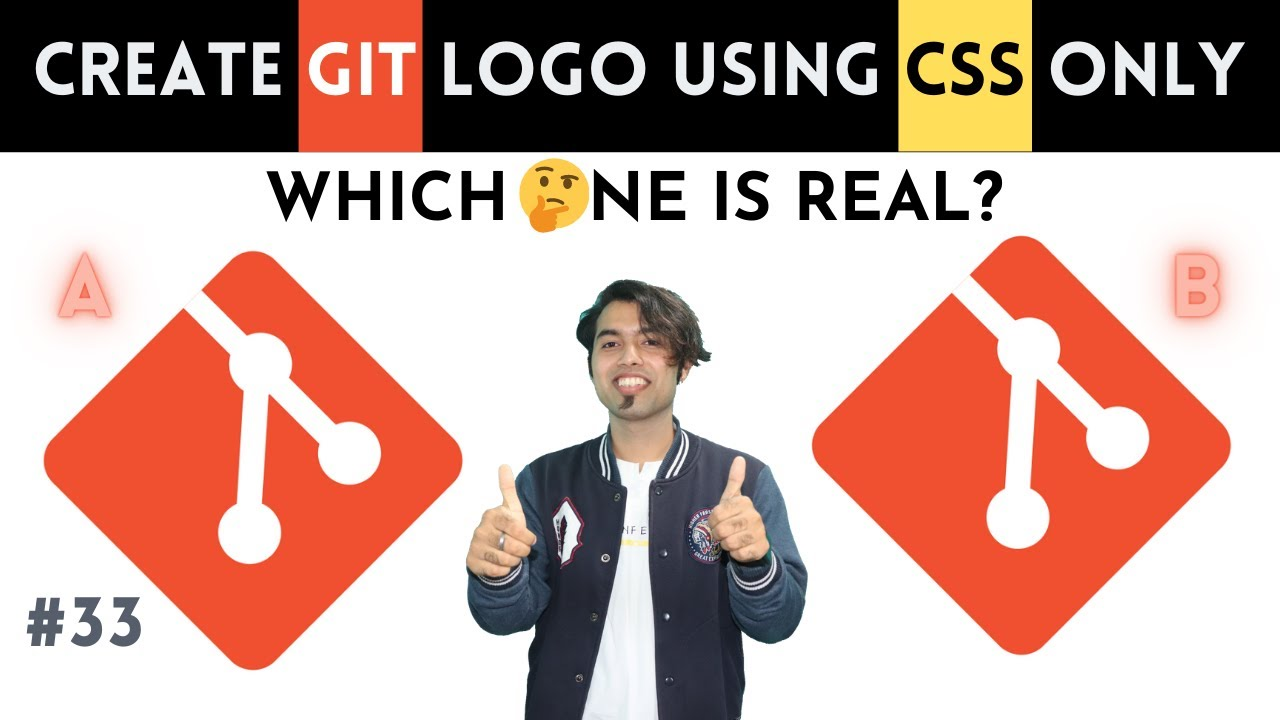 🔴 How to Create GIT Logo using Pure HTML & CSS Only 😍 CSS Master Series in Hindi #33