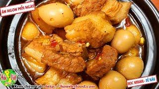 ✅ Làm Thịt Kho Tàu Thơm Lừng Đẹp Mắt Với Cách Cực Đơn Giản   Hồn Việt Food
