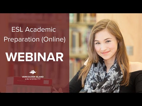 High School at VIU Webinar - ESL Academic Preparation