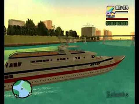Grand Theft Auto San Andreas (Vice City Mod) Yacht Driving