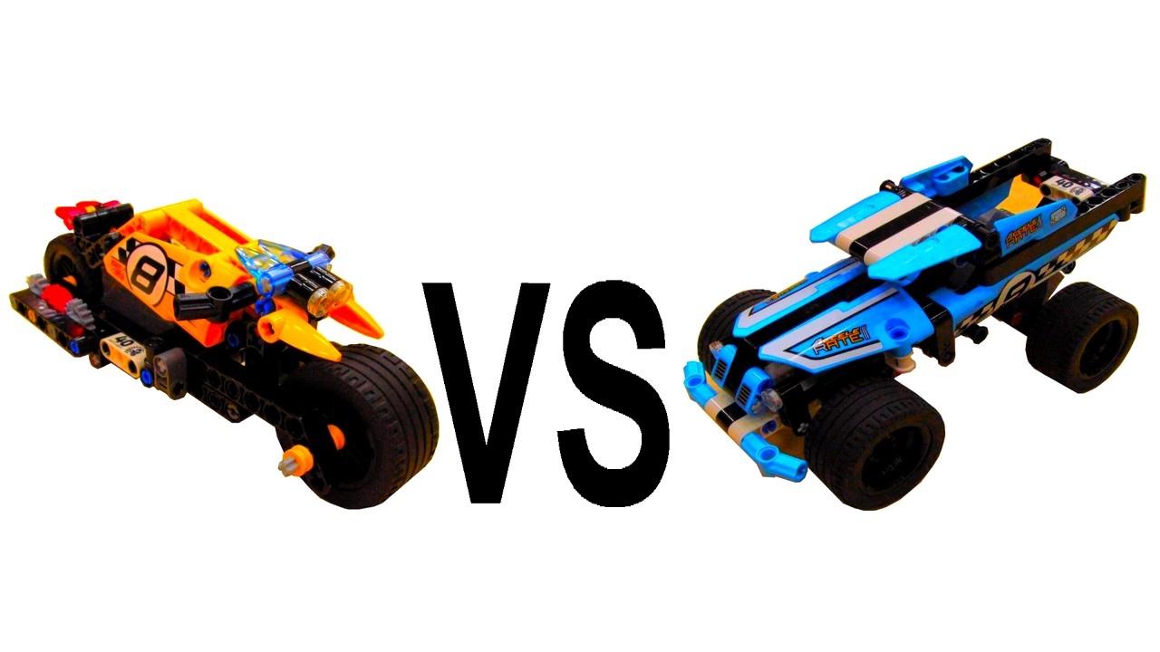 Lego Technic Stunt Bike Vs Stunt Truck 42058 Vs 42059
