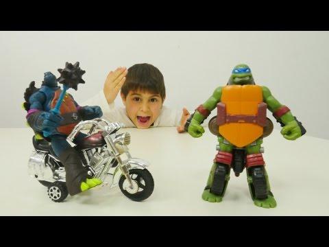 Ninja kaplumbağa Leonardo'nun Transformers'a dönüşmesi