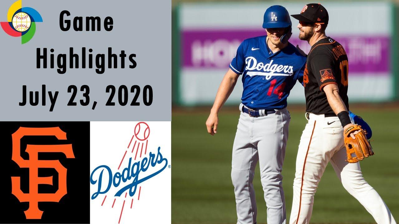 Giants vs. Dodgers - Game Recap - July 23, 2020 - ESPN