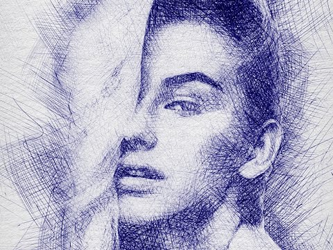 Pen Sketch Photoshop Effect Tutorial - YouTube