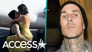 Travis Barker And Kourtney Kardashian Celebrate His First Flight Since 2008 Crash
