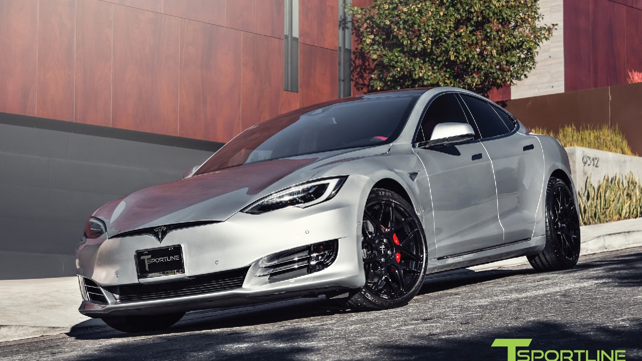 tesla model s p90d silver fully customized exterior interior youtube. Black Bedroom Furniture Sets. Home Design Ideas