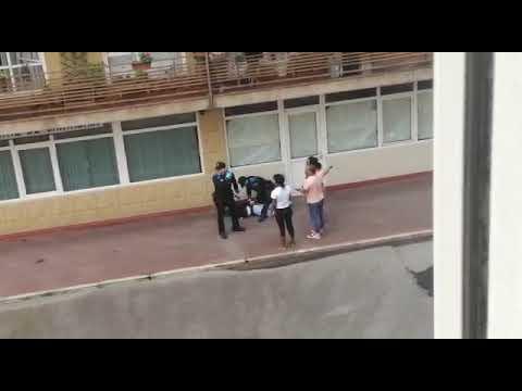 Altercado con la Policía en la calle Castilla de Santander
