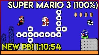 Super Mario Bros. 3 100% Speedrun 1:10:54