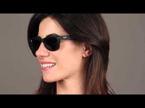 new wayfarer rb2132  Ray-Ban RB2132 New Wayfarer 622 Sunglasses Review - YouTube