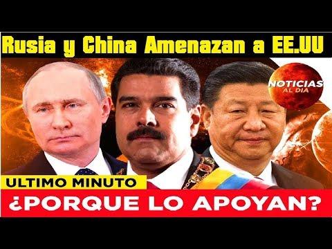 Rusia y China se enfrentan a EE.UU y apoyan a Maduro en Venezuela, Amenaza Militar contra Washington