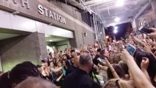 Selena Gomez after her concert in Boston 5/28