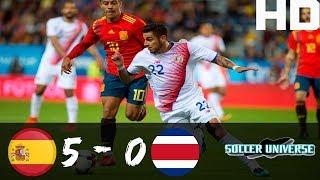 Download Video Spain vs Costa Rica 5-0 All Goals & Highlights HD 11 November 2017 MP3 3GP MP4