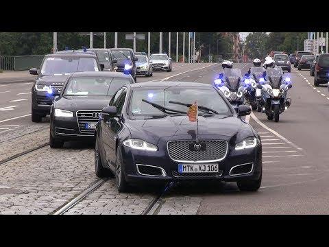 [Royaler Besuch in Heidelberg] Prinz William & Herzogin Kate - VIP Kolonne | Großeinsatz der Polizei