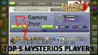 Top 5 mysterios player in clash of clan | in urdu and 1 mysterious clan | Gaming Zone.