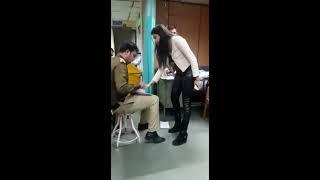 Rich Delhi girl drunk#police station#full on gaali