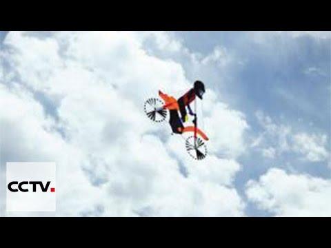 Taiwan kite designer makes unique bike kite