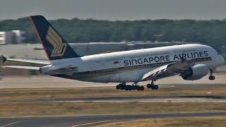 Singapore A380 Floating Landing (FRA)