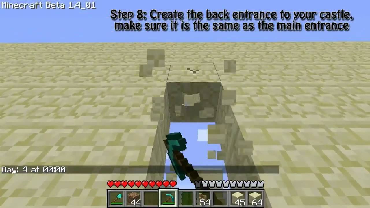 Minecraft Epic Sandcastle Tutorial/Guide [NEW: Part 6] - Survival