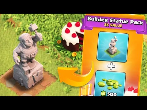 THE BUILDER CAN NEVER LEAVE NOW | Clash of Clans | Buying the Builder Statue Pack
