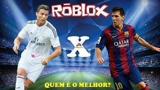 Messi x Cristiano Ronaldo: Quem é o melhor? - ROBLOX