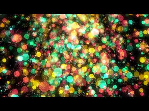 Multicolor Particles Bokeh Background Free HD Video