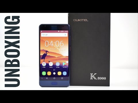 """8000mAh Battery, 5.5"""" Amoled - Oukitel K8000 Smartphone Unboxing"""