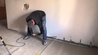 как технологично сделать демонтаж  части стены для  будущей двери