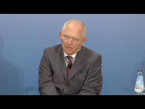 German Finance Minister Wolfgang Schäuble praises Greek reforms but calls for end to haircut talk
