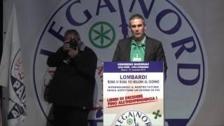 CONGRESSO DELLA LEGA LOMBARDA - INTERVENTO DI PAOLO #GRIMOLDI