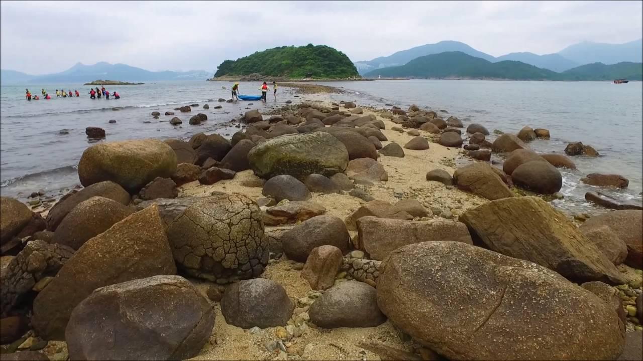 西貢橋咀島 - 中國香港世界地質公園 DJI Phantom 航拍 西貢 鹽田仔 白沙洲 - YouTube