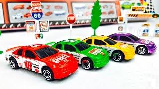 Carros de Carrera para Niños - Aprende los Colores - Videos Infantiles