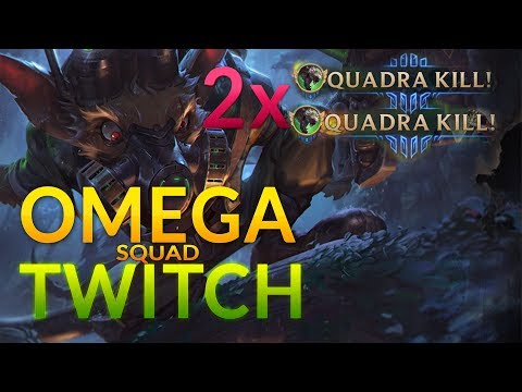 Omega Squad Twitch double Quadra Gameplay Commentary [german/deutsch] - League of Legends
