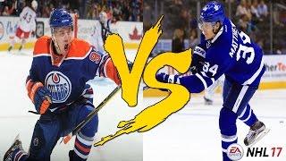 Is Auston Matthews Better Than Connor McDavid? (Insane Ending!!!) | NHL 17 Gameplay Simulation