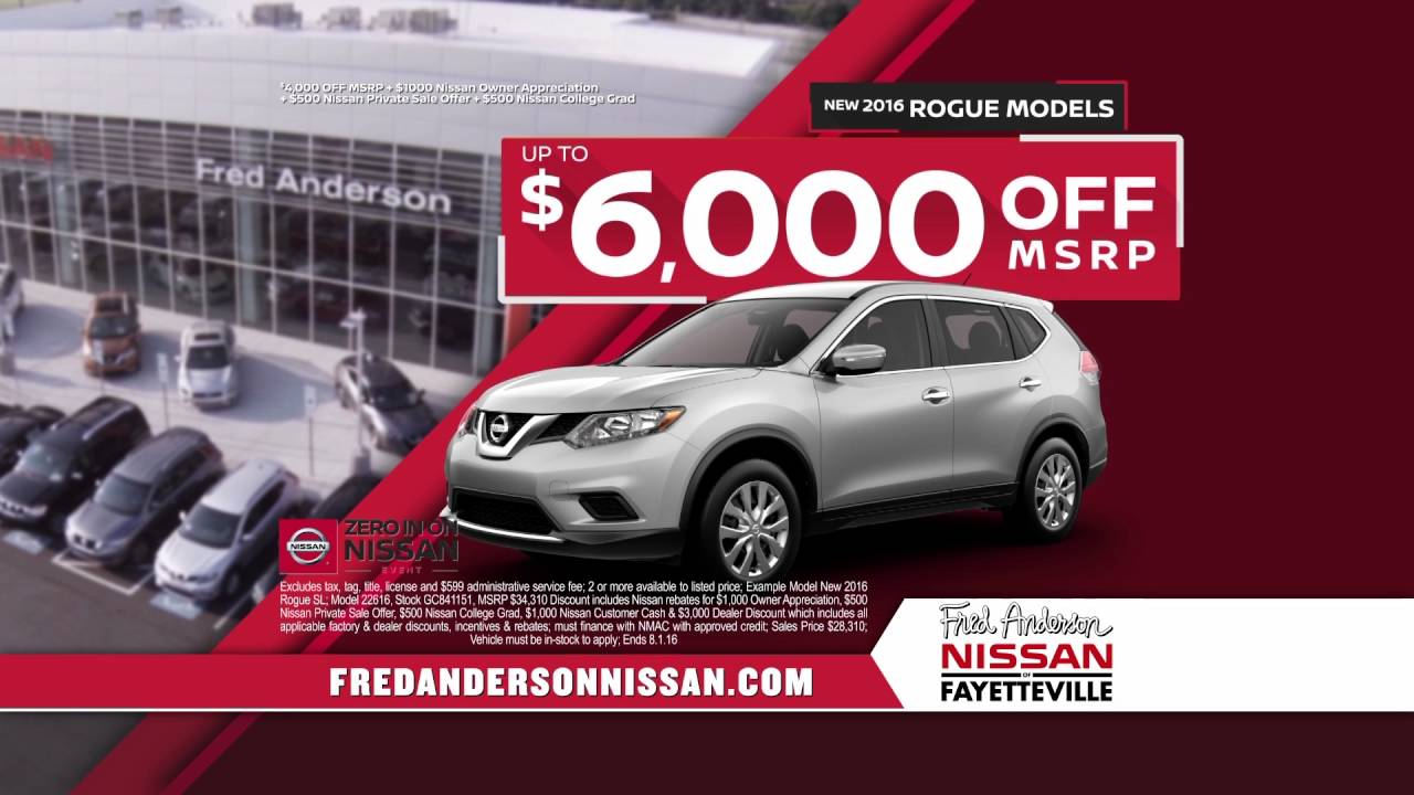 Fred Anderson Nissan Of Fayetteville   Zero In On Nissan