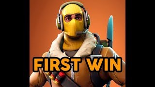 NEW FORTNITE SKIN - Raptor (First win using it)