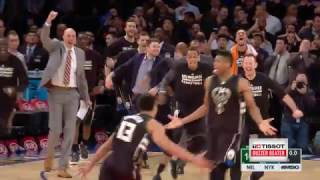 Giannis Antetokounmpo Wins It For Bucks | Tissot Buzzer Beater | 01.04.17