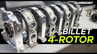 The Ultimate Rotary engine - BILLET 4-Rotor | fullBOOST