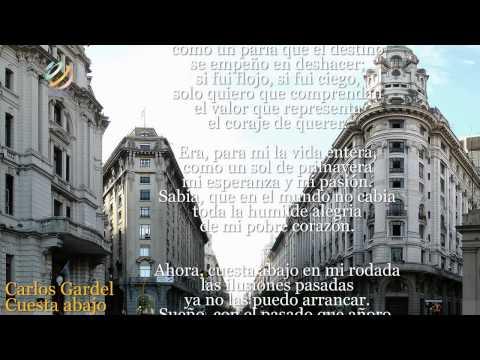 Carlos Gardel - Cuesta abajo (Letra-Lyrics) [HQ]