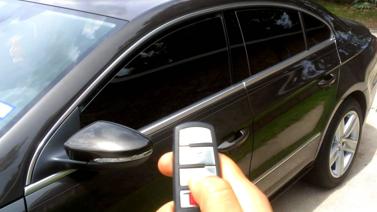 volkswagen cc windows   key fob youtube